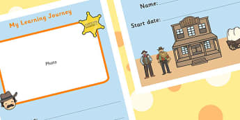My Learning Journey Front Cover Wild West Themed - wild west
