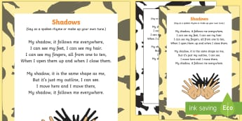 Shadows Rhyme - Light and Dark, shadow, light, light sources, shadows, reflection, science, song, rhythm