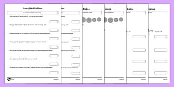 Money Activity Sheets Pack - money, activity sheets, pack, activity, sheets, worksheet