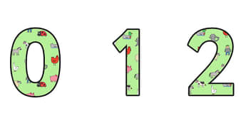Themed A4 Display Numbers to Support Teaching on What the Ladybird Heard - what the ladybird heard, display numbers, display, numbers, numbers for display, themed numbers