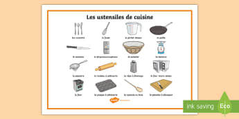 Cooking Utensils Word Mat French - KS2, French, Resources,word mat, cooking, utensils, cuisine, ustensiles