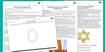 Challenges and Commitment to Faith RE Lesson Teaching Pack
