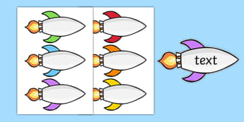 Editable Space Rocket - editable space rocket, space, editable, rocket, astronaut, planets