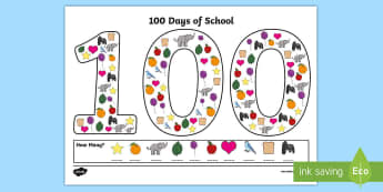 100 Days of School Counting Activity Sheets - 100 Days of School, counting, milestone, nz, new zealand, activity, 100, one, hundred, worksheet, wo