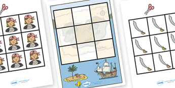 3 in a Row Activity (Pirate) - 3 in a row activity pirate, pirate, 3 in a row, row, game, activity, fun, wet play, numbers, counting