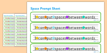 I Can Put Spaces Between Words Prompt Strips - space, word spaces, finger spaces, prompt, word prompts, prompt strips, word strips, word prompts, prompts