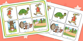 The Tortoise and The Hare SEN Matching Mat - SEN mat, stories