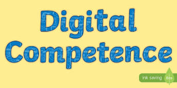 Digital Competence Display Lettering