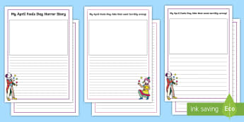 April Fools' Day Essay Writing Template - ROI, April Fools Day, Essay, Writing Activity, English, jokes, prank