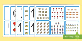 Los números y las cantidades Tarjetas de emparejar