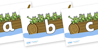 Phoneme Set on Five Speckled Frogs - Phoneme set, phonemes, phoneme, Letters and Sounds, DfES, display, Phase 1, Phase 2, Phase 3, Phase 5, Foundation, Literacy