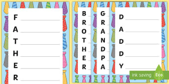 Father's Day Mixed Acrostic Poem - poetry, dad, daddy, father, gift, holiday