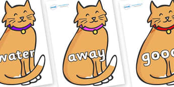 Next 200 Common Words on Pussy Cats - Next 200 Common Words on  - DfES Letters and Sounds, Letters and Sounds, Letters and sounds words, Common words, 200 common words