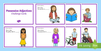 Possessive Adjectives His And Hers Fill In The Sentence Cut Out Cards