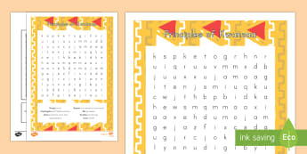 Principles of Kwanzaa Word Search - Kwanzaa, Principles of Kwanzaa
