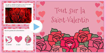 EYFS All About Valentine's Day PowerPoint French - french, valentine, love, cupid