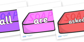 Tricky Words on Soap (Multicolour) - Tricky words, DfES Letters and Sounds, Letters and sounds, display, words