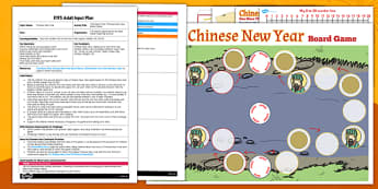One More Than Chinese New Year Board Game EYFS Adult Input Plan and Resource Pack