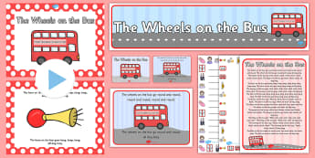 Wheels on Bus - wheels on bus, wheels on the bus, rhyme, pack