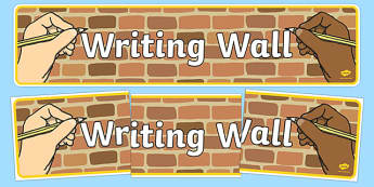 Writing Wall Display Banner - writing, write, writing wall