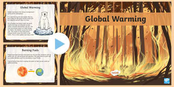 Global Warming PowerPoint - global warming, global warming facts, climate change, climate change powerpoint, geography powerpoint, the world, atmosphere