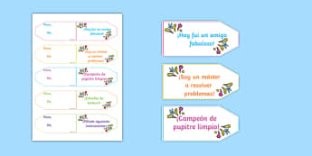 Achievement Brag Tags Spanish - spanish, achievement, brag tags, brag, tag, award, reward, collect, effort