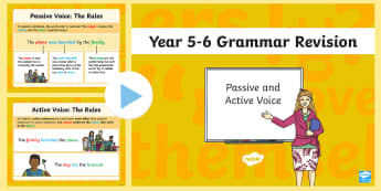 Year 5-6 Grammar Revision Guide and Quick Quiz Passive and Active Voice PowerPoint-Australia - Year 5, year 6, passive voice, active voice, grammar, writing ,Australia