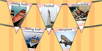 Transport Photo Display Bunting - transport, transport display