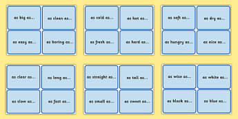 Similes Prompt Cards - similes, prompt, cards, simile prompt