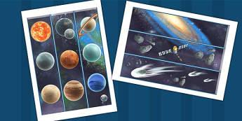 Space Display Borders Detailed Images - space, space display