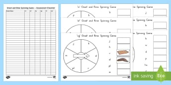 Onset and Rime Spinner Game - End of Year/Back to School Australia, beginning assessment, onset and rime, literacy, phonological a