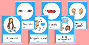 Good Listening Posters Gaeilge - gaeilge, good listening, posters, display, communication