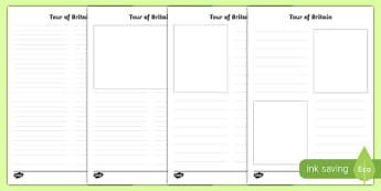 Tour of Britain Newspaper Writing Template