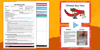 Dragon Dance Parachute Game EYFS Adult Input Plan and Resource Pack - EYFS, Early Years, planning, Chinese New Year, PD, Physical Development