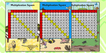 Multiplication Squares - multiplication, multiples, square, multiplication square, prompt, numbers, multiply, numeracy, KS2, Maths, table