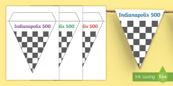 Indianapolis 500 Display Bunting - United States History, State history, Indiana, Indianapolis 500, Tradition, Classroom Display, Bulle