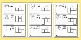 CVC Spelling Cards Pack - CVC, spelling, cards, pack, words