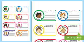 School Role Play Comment Stickers Arabic/English - School Role Play Comment Stickers - School Role Play Pack, school role play, register, teacher, stic