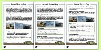 KS1 Armed Forces Day Differentiated Fact File
