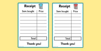 Paint Shop Role Play Receipt - paint shop, role play, receipt, paint, shop, role, play