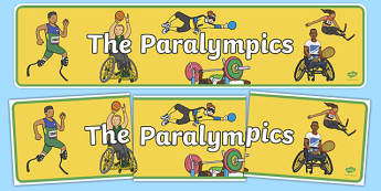 The Paralympics Display Banner - paralympics, rio 2016, rio olympics, 2016 olympics, display banner, display, banner