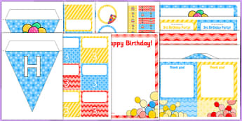 3rd Birthday Party Pack - 3rd birthday party, 3rd birthday, birthday party, pack