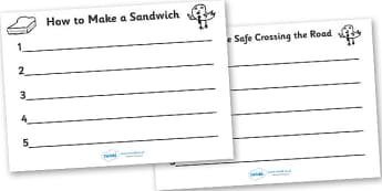 Editable Instruction Writing Templates - editable, instruction template, instruction writing, writing aid, independent writing, template
