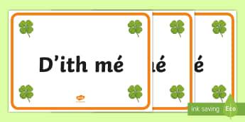 ROI Past Tense Verbs in Irish Posters A4 Display Poster-Irish - ROI - Irish Language Week Gaeilge Resources - 1st-17th March,Irish