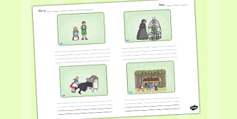 Hansel and Gretel Storyboard Template - storyboard, hansel gretel