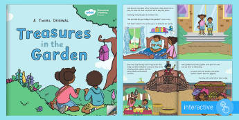Treasures in the Garden eBook - ebook, outdoor, learning, forest school, relationships, fairy, queen, dragon, pirates, space, moon,