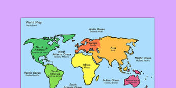 World Map With Names Romanian Translation - romanian, geography, map reading, display map, maps