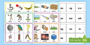 Phase 5 Grapheme Bingo - phase five, phase 5, grapheme, bingo, game, activity, phase, play, bingo game