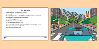 The Big City Oral Language  Activity Sheet-Irish, worksheet