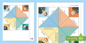 Key Nazis Fortune Teller Template - 15 Minute Revision Activities, GCSE, History, Nazi, Germany, Hitler, Goebbels, Goering, Himmler, Roh